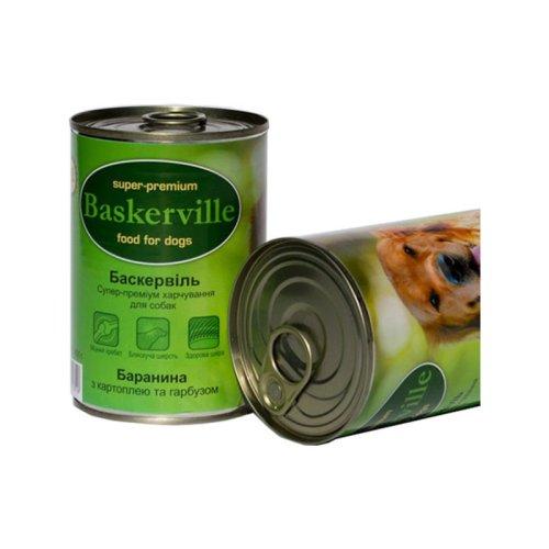Baskerville - консервы Баскервиль для собак, с бараниной, картошкой и тыквой 400 г (BS0060)