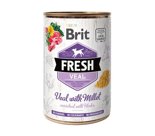 Brit Fresh Veal/Millet - консервы Брит Фреш с телятиной и пшеном для собак 400 г (100161/3916)
