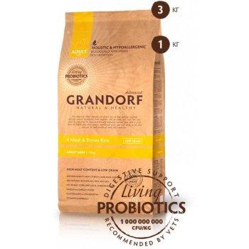 Grandorf Living Probiotics 4 Meat & Brown Rice Mini - корм Грандорф 4 вида мяса с пробиотиками для собак малых пород 1 кг