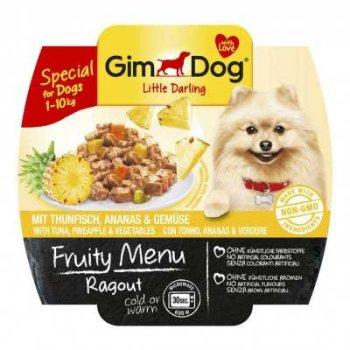 GimDog Fruity Menu - консервы ДжимДог с тунцом, ананасом и овощами для собак 100 г (G-512273)