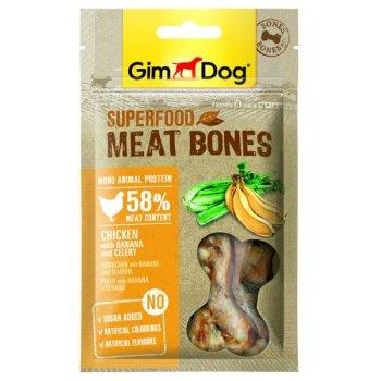 GimDog Superfood - мясные косточки ДжимДог с курицей, бананом и сельдереем для собак 70 г (G-514857)