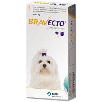 Bravecto - инсектоакарицидные таблетки Бравекто для собак Вес 2 - 4,5 кг, одна таблетка (8713184146502)